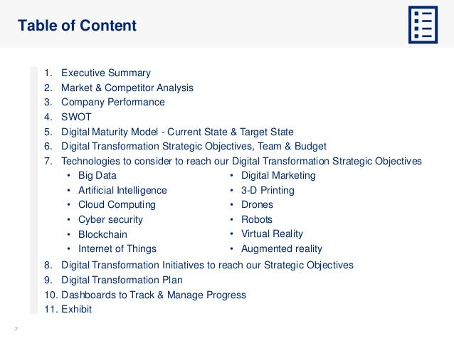 Digital Transformation Strategy and Plan Template Slide 2
