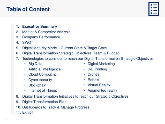 Digital Transformation Strategy and Plan Template Slide 3