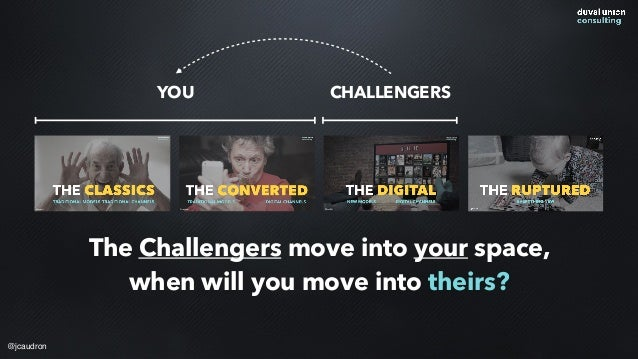 @jcaudron YOU CHALLENGERS The Challengers move into your space, when will you move into theirs?
