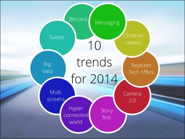 Bitcoins Twitter  Big data  Messaging  10 trends for 2014  Multi screens Hyper connected world  Children tablets  Rejected...