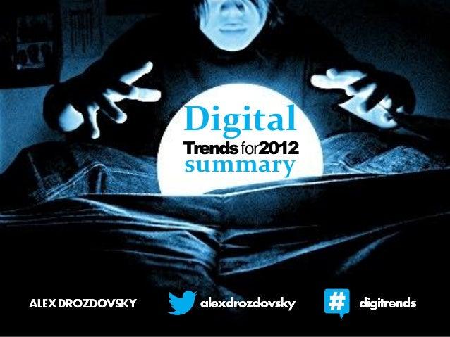 DigitalTrendsfor2012summary