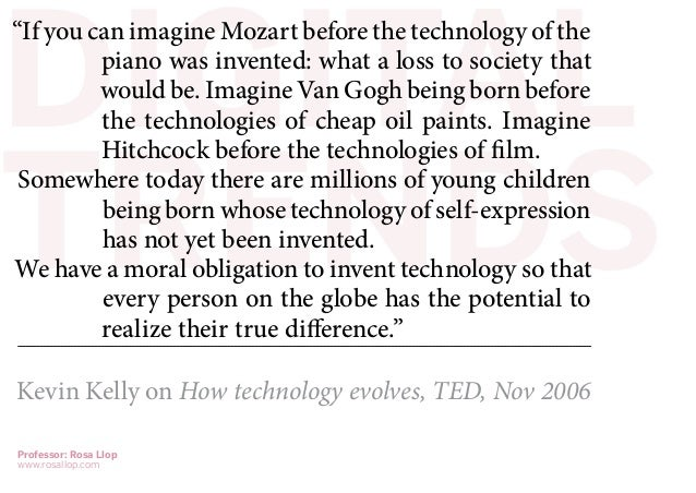 "DIGITAL""If you can imagine Mozart before the technology of the         piano was invented: what a loss to society that    ..."