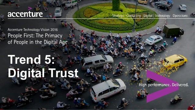Trend 5:  Digital Trust