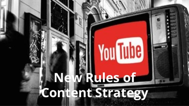 New Rules of Content Strategy