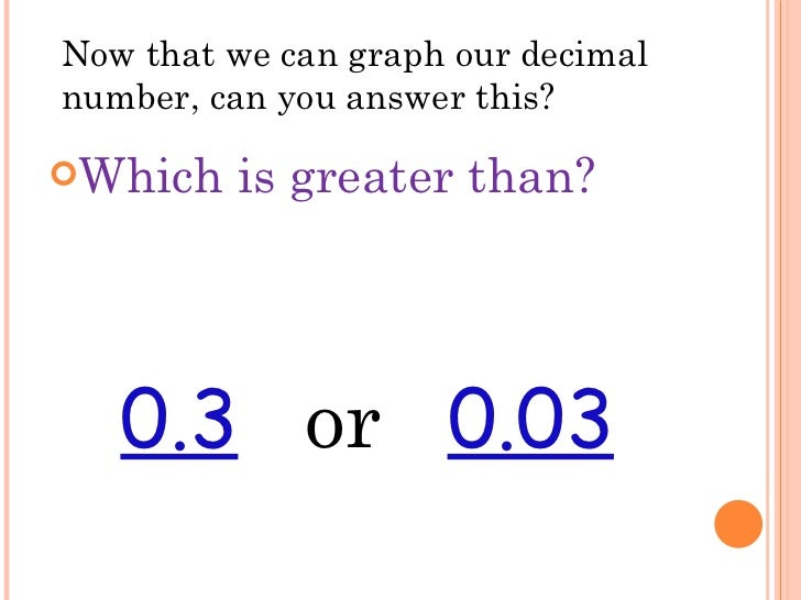 how to tell which decimal is greater