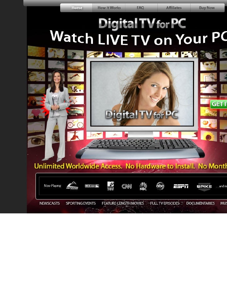 Digital Tv For Pc   Watch Live Tv On Your Pc