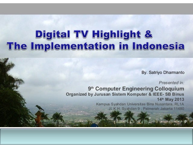 Digital tv highlight and implementasinya in indonesia ccuart Image collections