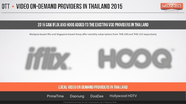 Digital TV in Thailand 2015