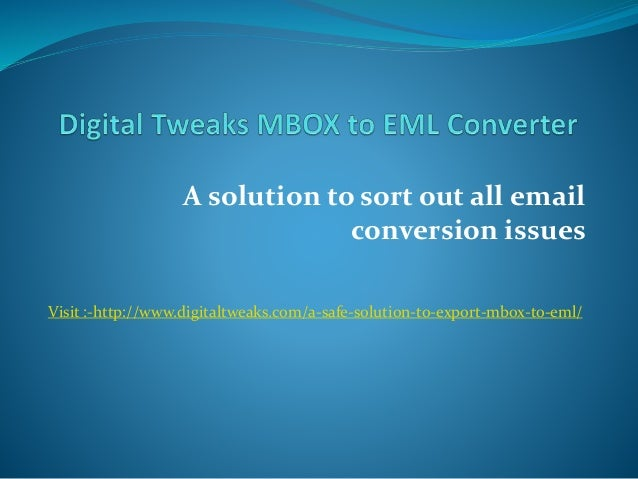 Eml To Mbox