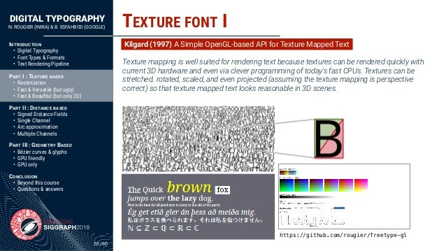 DIGITAL TYPOGRAPHY N. ROUGIER (INRIA) & B. ESFAHBOD (GOOGLE) /60 INTRODUCTION • Digital Typography • Font Types & Formats ...