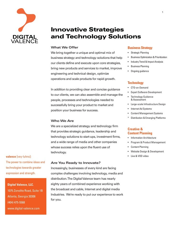 1                                      Innovative Strategies                                  and Technology Solutions    ...
