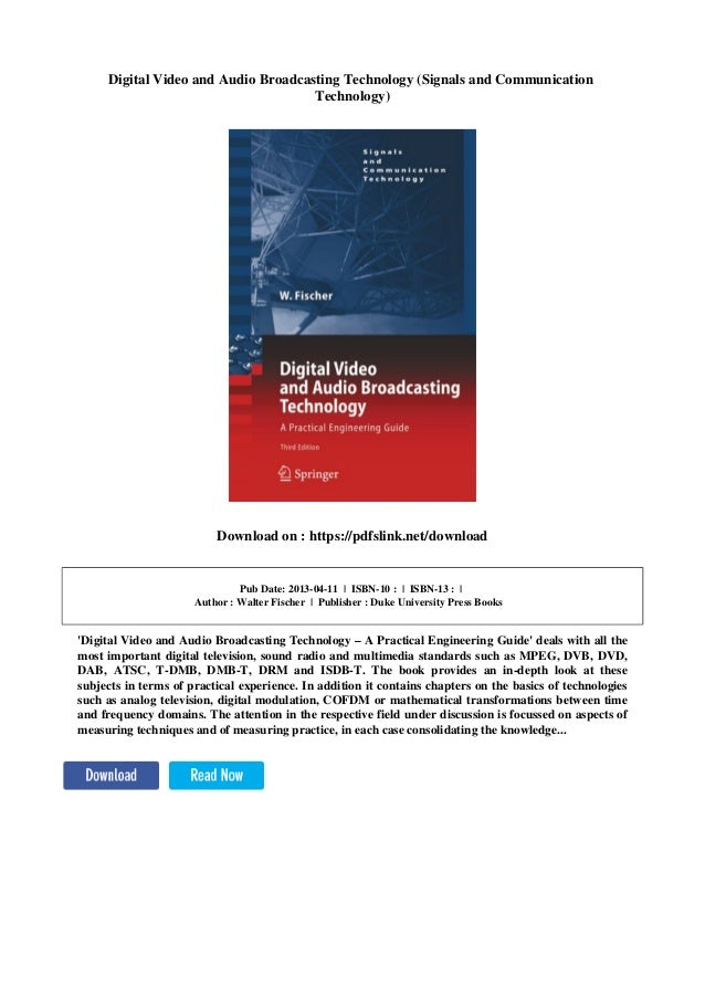 A Practical Engineering Guide Digital Video and Audio Broadcasting Technology