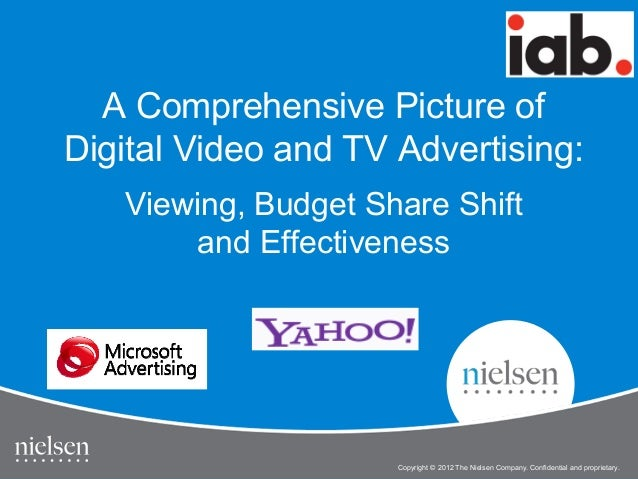 A Comprehensive Picture of Digital Video and TV Advertising: Viewing, Budget Share Shift and Effectiveness  1  IAB Online ...