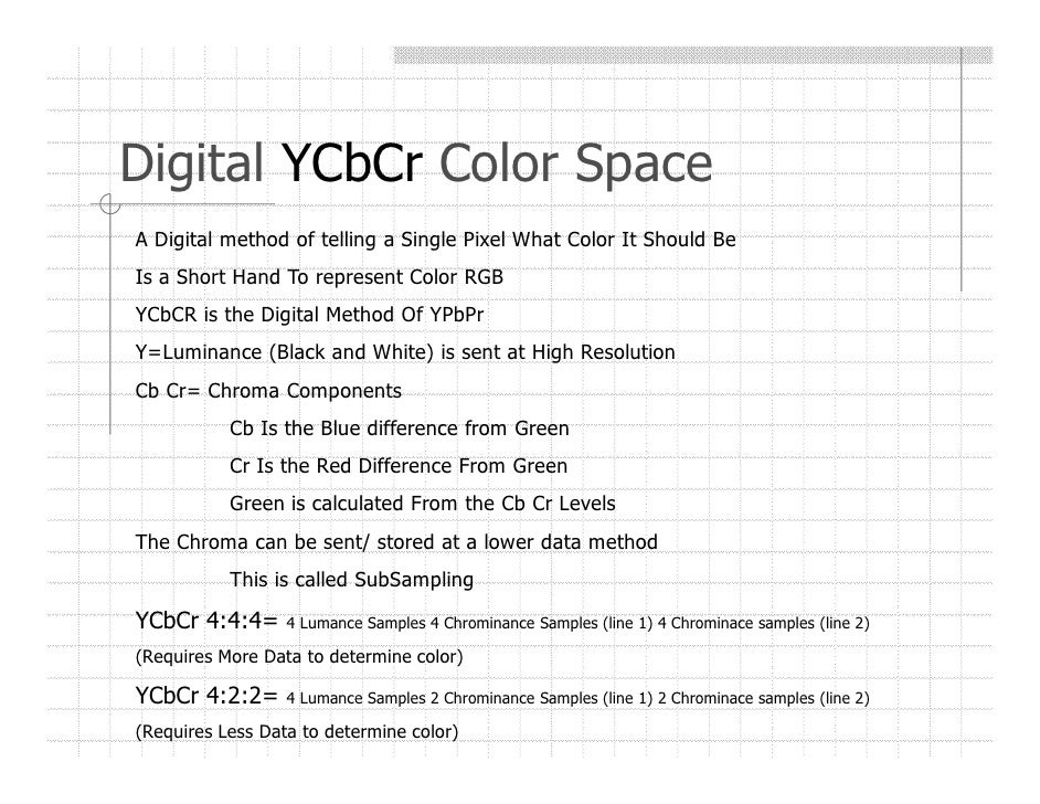 digital video course section  digital rgb color space 17