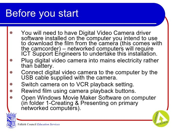 digital video using windows movie maker and usb camera