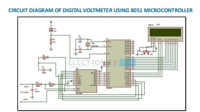 digital voltmeter using 8051 microcontroller Active Clock Circuit circuit diagram 8051 programmer