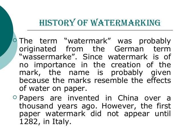 papers on digital watermarking International journal of computer applications (0975 – 8887) volume 110 – no 1, january 2015 10 a review paper on digital watermarking and its.