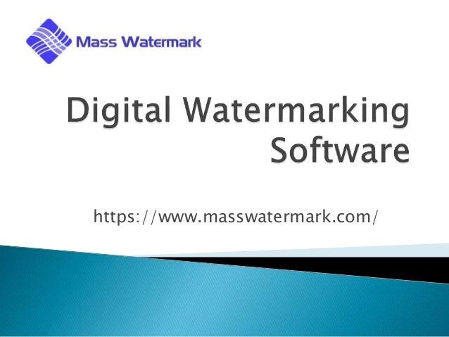 Digital Watermarking Software