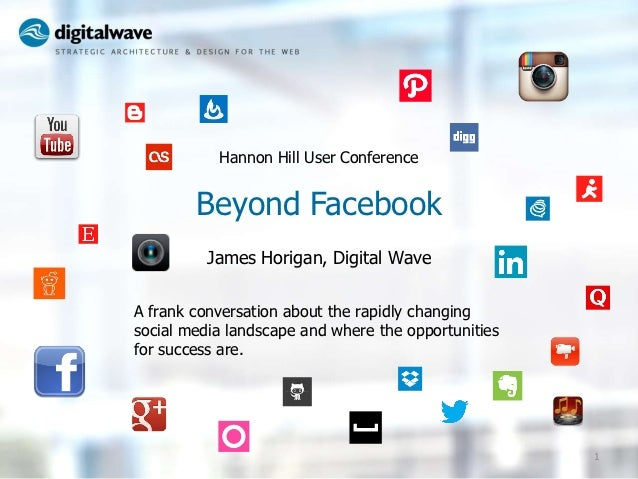 Hannon Hill User Conference        Beyond Facebook          James Horigan, Digital WaveA frank conversation about the rapi...