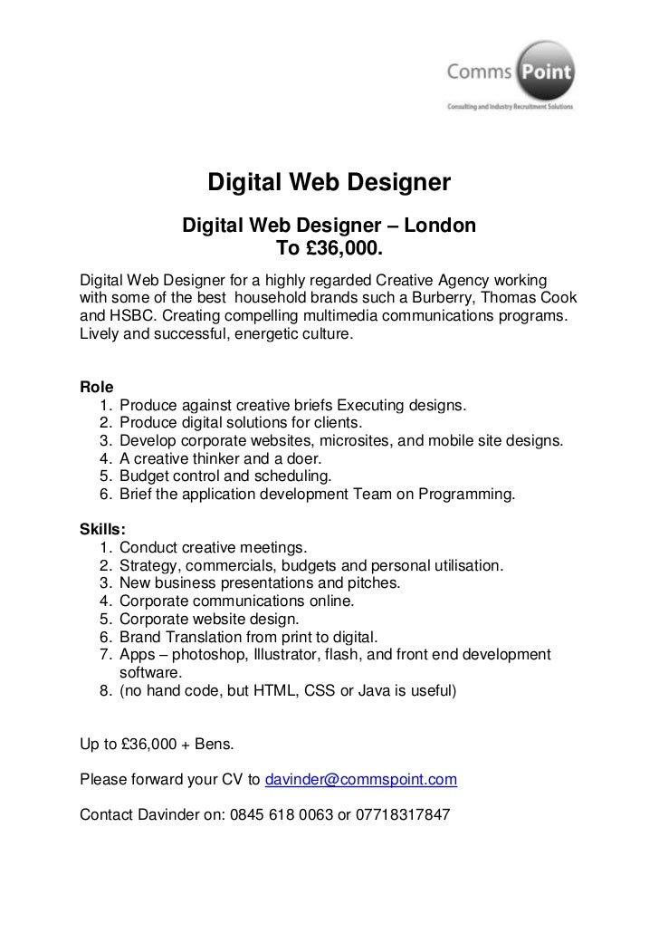 Digital Web Designer<br />Digital Web Designer – London<br />To £36,000.<br />Digital Web Designer for a highly regarded C...