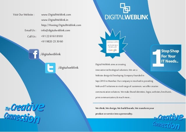 Digital Weblink aims at creating innovative technological solutions. We are a Website design & Developing Company founded ...