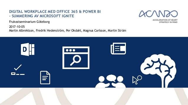 Digital Workplace Med Office 365 Amp Power Bi Summering Av