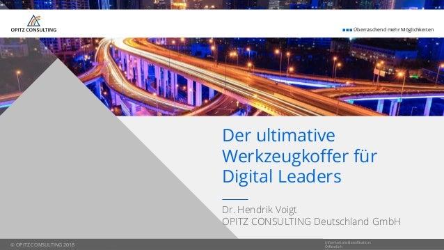 © OPITZ CONSULTING 2018  Überraschend mehr Möglichkeiten © OPITZ CONSULTING 2018 Dr. Hendrik Voigt OPITZ CONSULTING Deu...