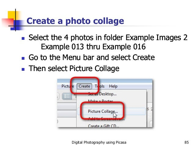 Digitial Photography Using Picasa Slides