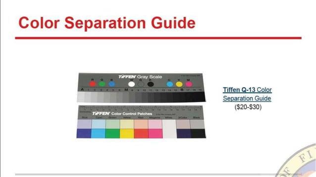 Color Separation Guide  Tiffen 9-13 Color Separation Guide (320-330)     Iqìrrn.