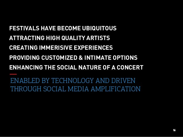 16 ENABLED BY TECHNOLOGY AND DRIVEN THROUGH SOCIAL MEDIA AMPLIFICATION ENHANCING THE SOCIAL NATURE OF A CONCERT FESTIVALS ...