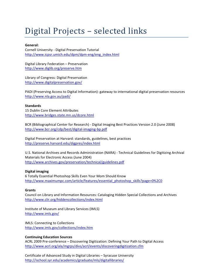 Digital preservation management workshops and tutorial.