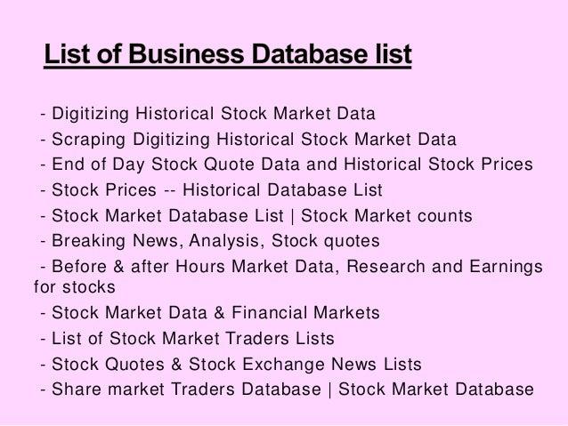 Digitizing Historical Stock Market Data Mesmerizing Historical Stock Quotes