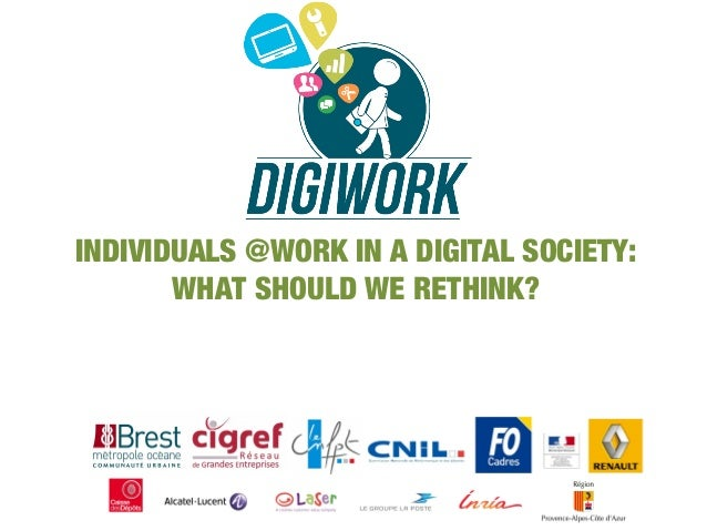 INDIVIDUALS @WORK IN A DIGITAL SOCIETY: WHAT SHOULD WE RETHINK?