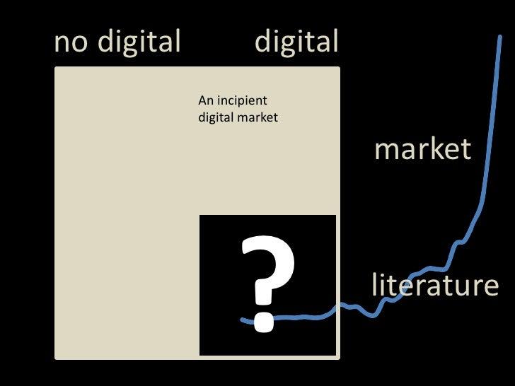 digital<br />notdigital<br />An incipient digital market<br />market<br />?<br />literature<br />