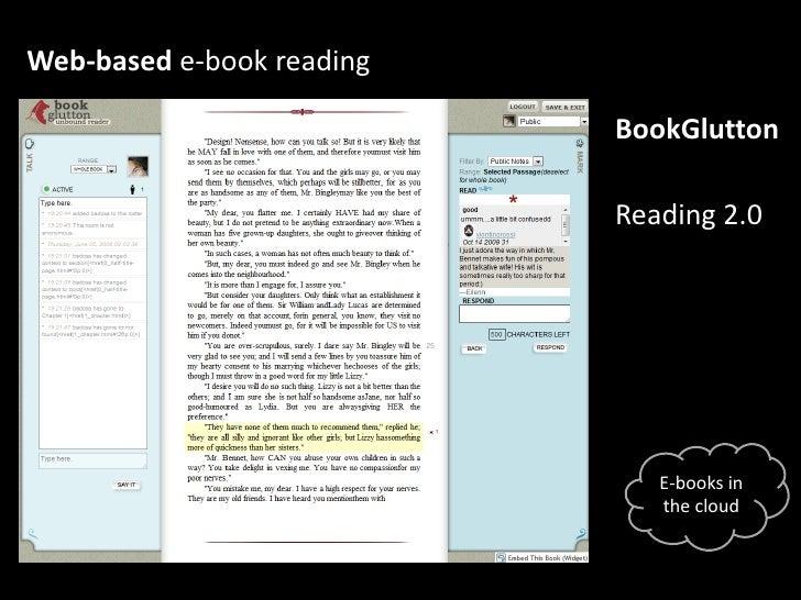 Web-based e-book reading<br />BookGlutton<br />Reading 2.0<br />E-books in thecloud<br />