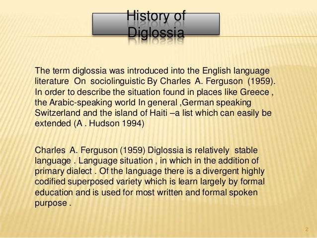diglossia examples