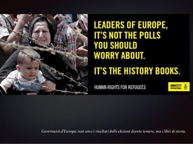 Immigrazione. Questione di dignità. Immigration, a question of human dignity