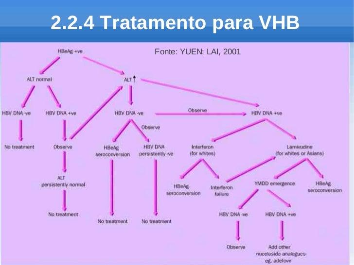 2.2.4 Tratamento para VHB          Fonte: YUEN; LAI, 2001