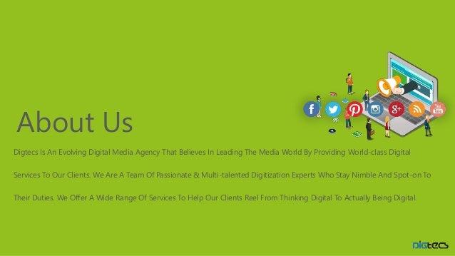 Company profile leading digital marketing for Ad agency profile