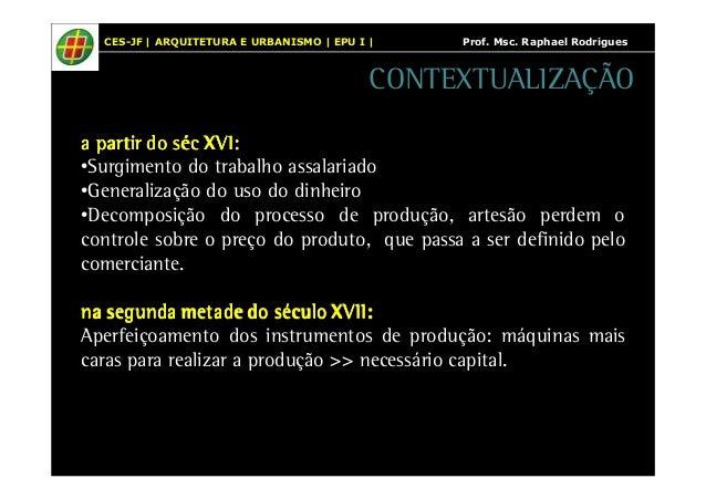 CES-JF | ARQUITETURA E URBANISMO | EPU I | Prof. Msc. Raphael Rodrigues  CONTEXTUALIZAÇÃO  a ppppaaaarrrrttttiiiirrrr dddd...