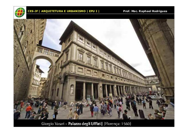 CES-JF | ARQUITETURA E URBANISMO | EPU I | Prof. Msc. Raphael Rodrigues  Giorgio Vasari - Palazzo PPPaaalllaaazzzzzzooo dd...