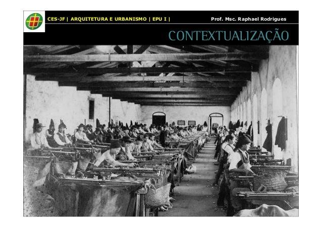 CES-JF | ARQUITETURA E URBANISMO | EPU I | Prof. Msc. Raphael Rodrigues  CONTEXTUALIZAÇÃO