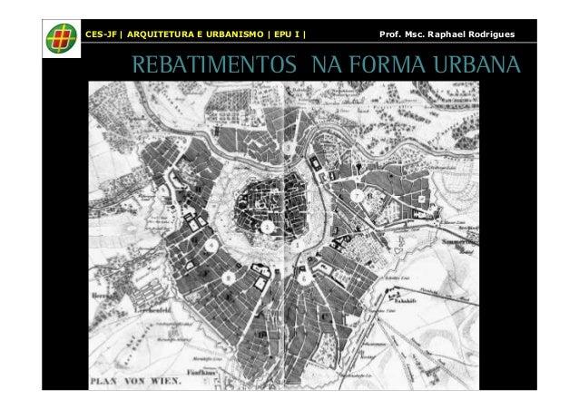 CES-JF | ARQUITETURA E URBANISMO | EPU I | Prof. Msc. Raphael Rodrigues  REBATIMENTOS NA FORMA URBANA