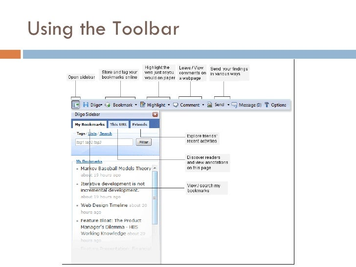 Using the Toolbar