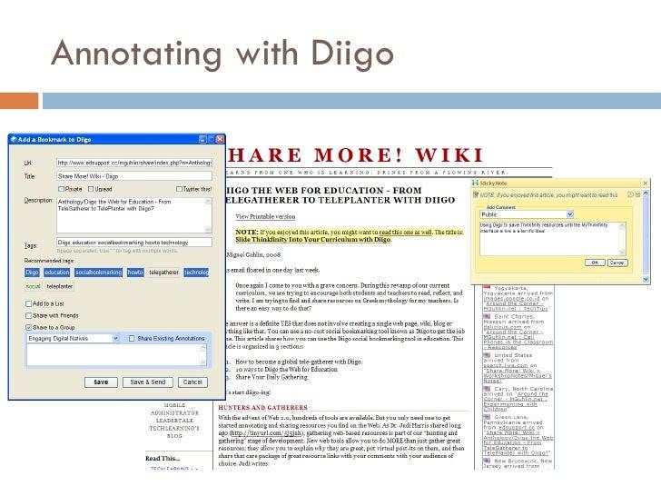 Annotating with Diigo
