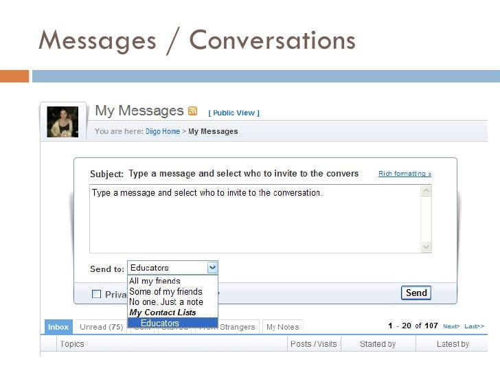 Messages / Conversations