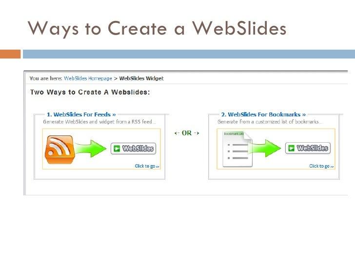 Ways to Create a WebSlides