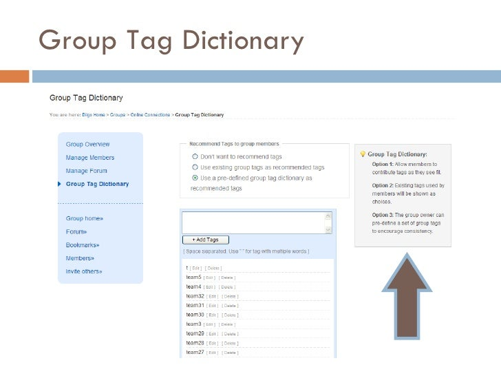 Group Tag Dictionary