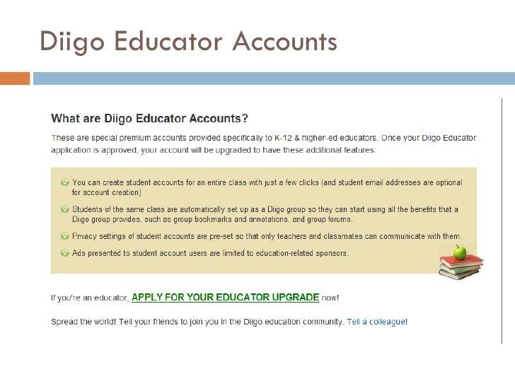Diigo Educator Accounts