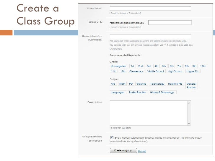 Create a Class Group